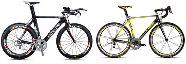 Triathlon bike vs road bike